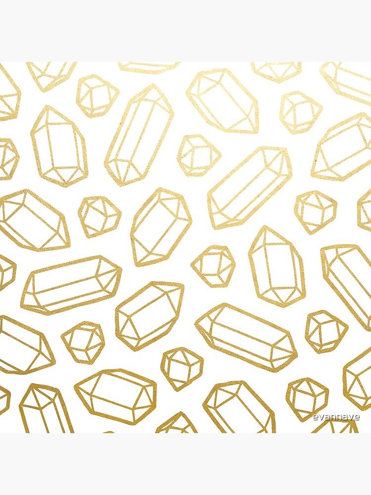 Patrón de piedras preciosas de oro y blanco de evannave