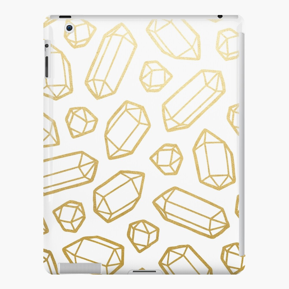 Gold and White Gemstone Pattern iPad Snap Case