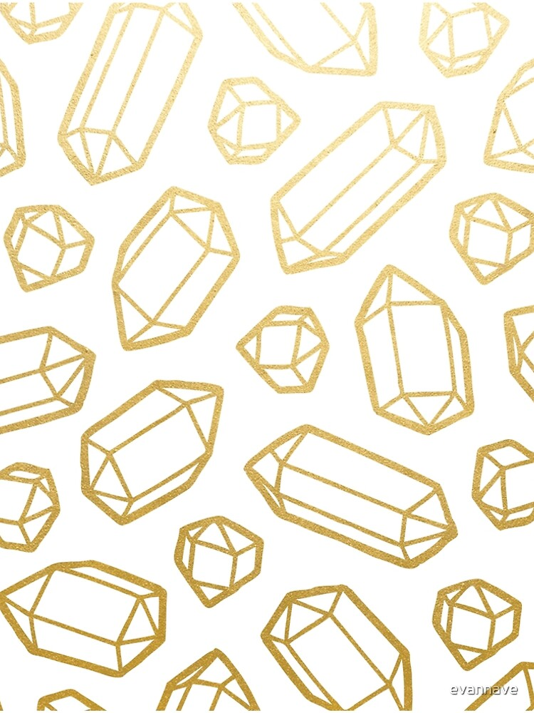 Gold and White Gemstone Pattern by evannave