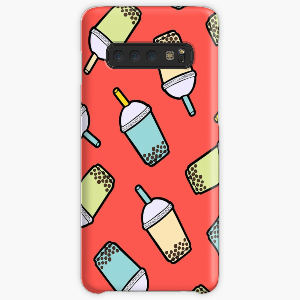 Bubble Tea Pattern in Red Samsung Galaxy Snap Case