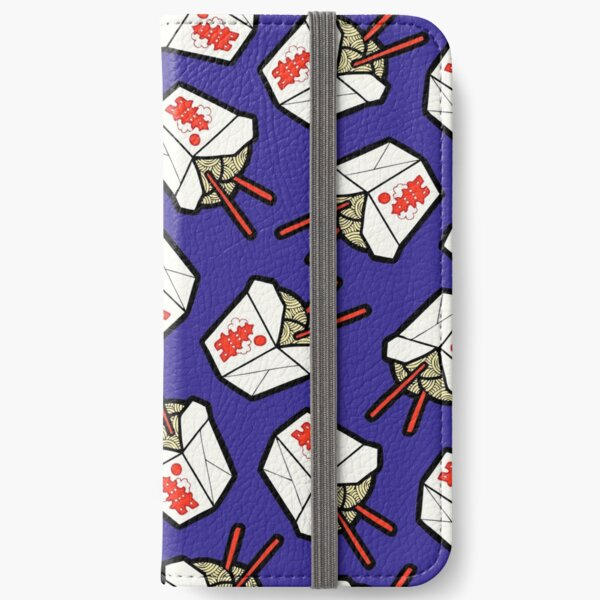 Take-Out Noodles Box Pattern iPhone Wallet
