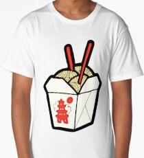 Take-Out Noodles Box Pattern Long T-Shirt