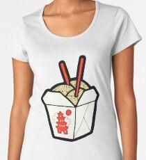 Take-Out Noodles Box Pattern Women's Premium T-Shirt