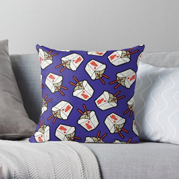 Take-Out Noodles Box Pattern Throw Pillow