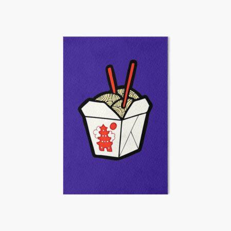 Take-Out Noodles Box Pattern Art Board Print