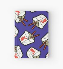 Take-Out Noodles Box Pattern Hardcover Journal