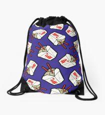 Take-Out Noodles Box Pattern Drawstring Bag