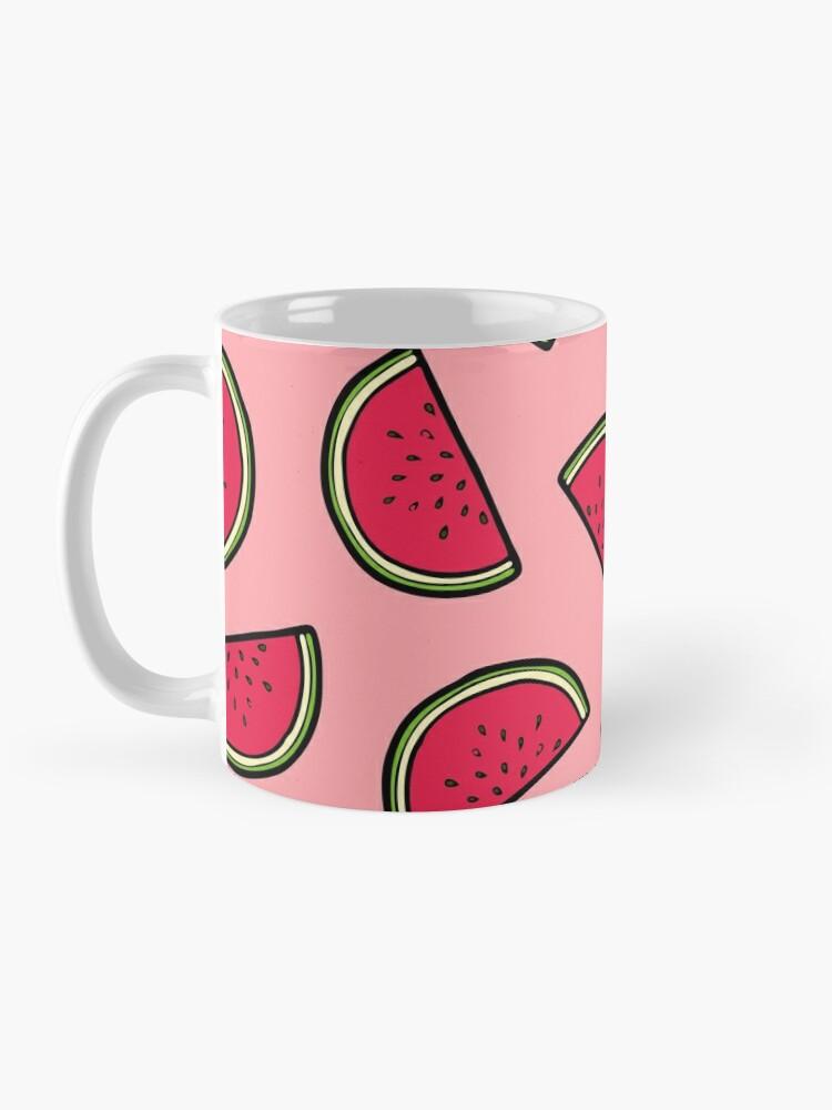 Alternate view of Watermelon Pattern in Pink Mug