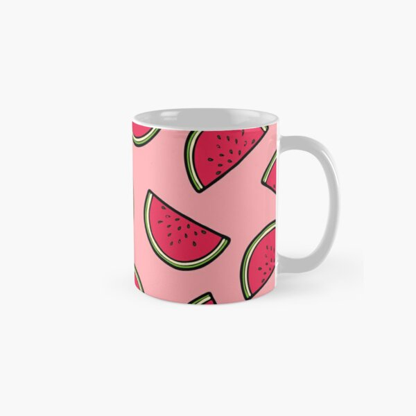 Watermelon Pattern in Pink Classic Mug