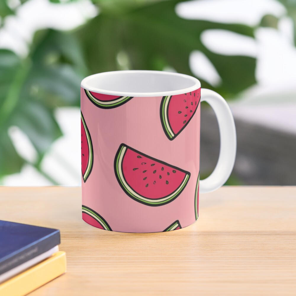 Watermelon Pattern in Pink Mug