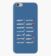 Airbus A380 Operators Illustration - Blue Version iPhone Case