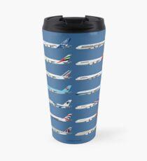 Airbus A380 Operators Illustration - Blue Version Travel Mug