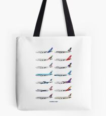 Airbus A380 Operators Illustration Tote Bag