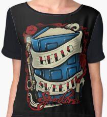 Hello Sweetie (T-shirt) Chiffon Top