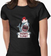 Funny Ugly Christmas Shark Santa Hat Gift Ideas T-Shirt