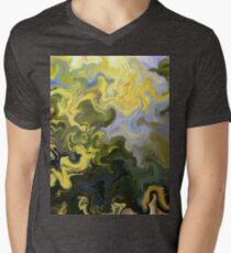 abstract, green, blue, nature, water, reflection, impressionist, T-Shirt