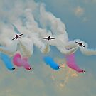 The Red Arrows At Flying Legends 1 by Colin  Williams Photography