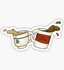 tea and coffee duo Sticker