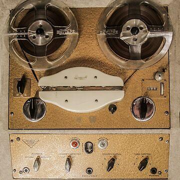 Vintage tape sound recorder reel to reel  by TomConway