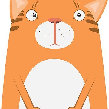 Cartoon ginger cat by vasilixa