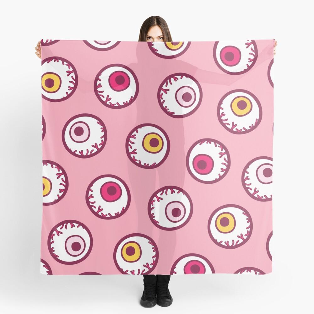 Halloween Candy Eyeball Pattern in Pink Scarf