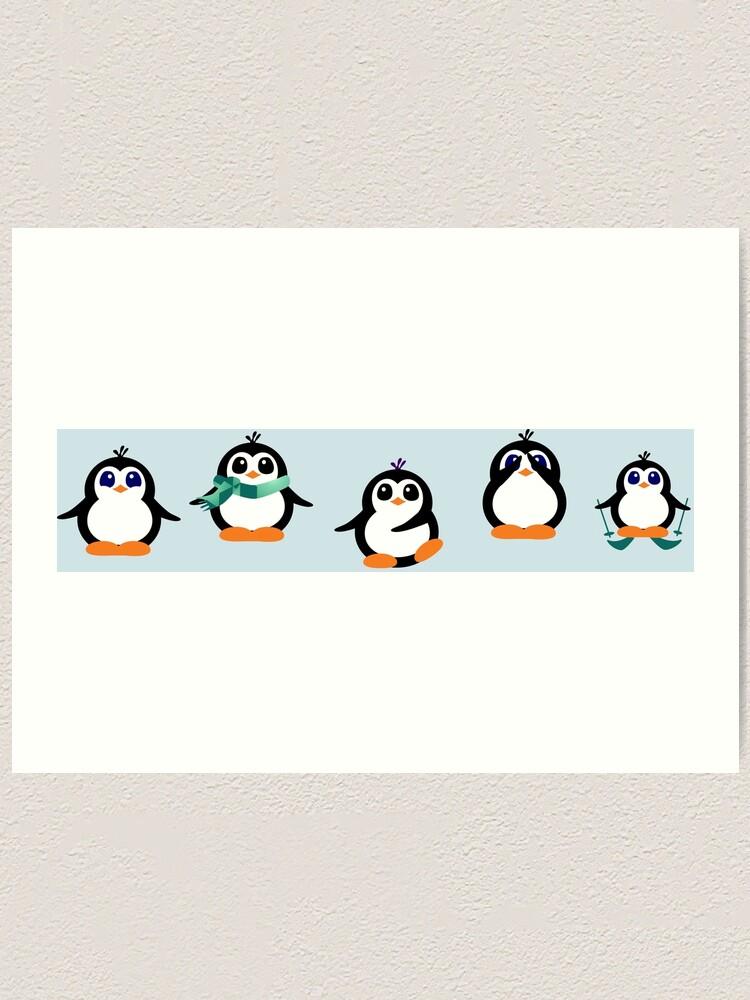 Alternate view of Cute Penguin Fun Cartoon Group Art Print