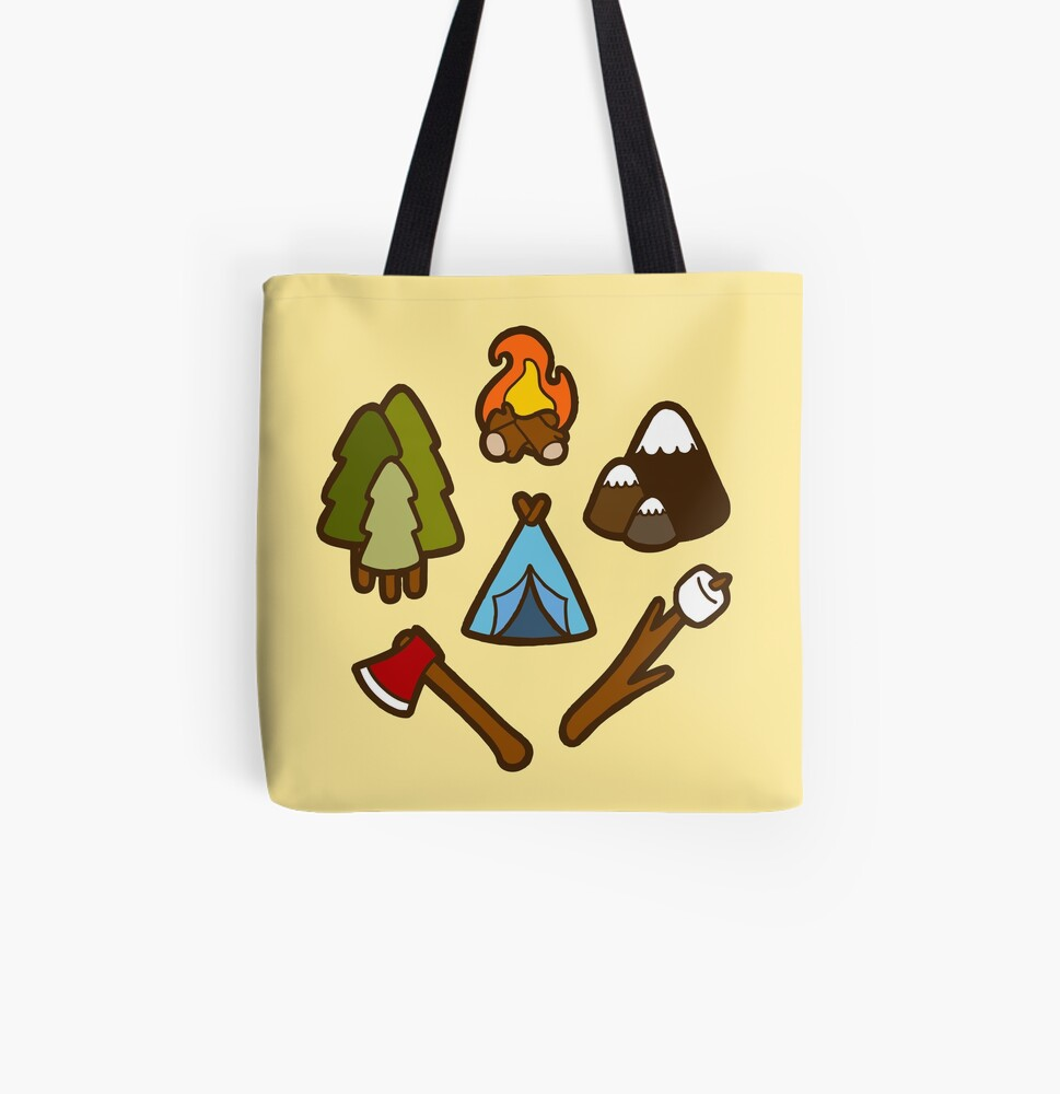Camping is cool All Over Print Tote Bag