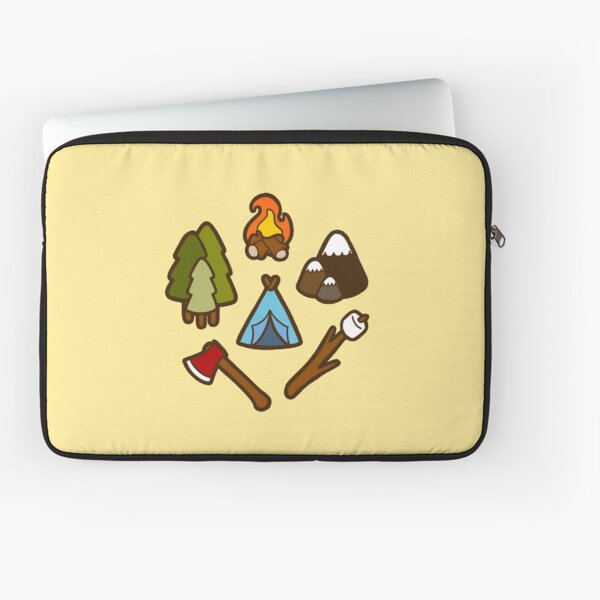 Camping is cool Laptop Sleeve