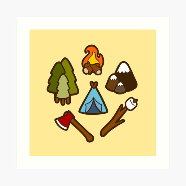 Camping is cool Art Print