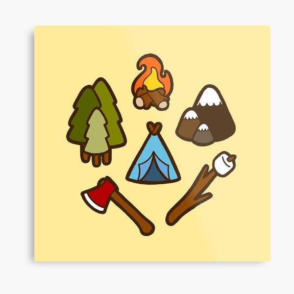 Camping is cool Metal Print
