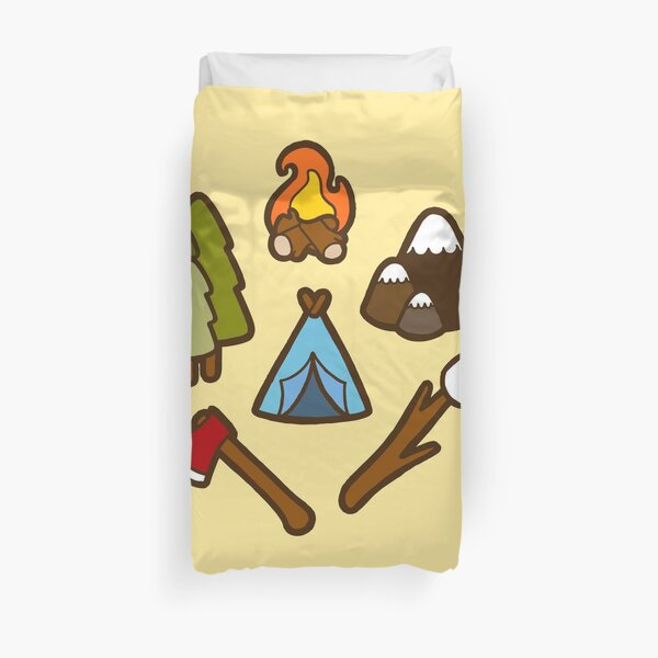 Camping is cool Duvet Cover