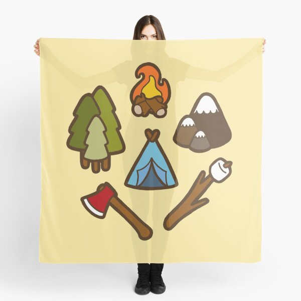 Camping is cool Scarf