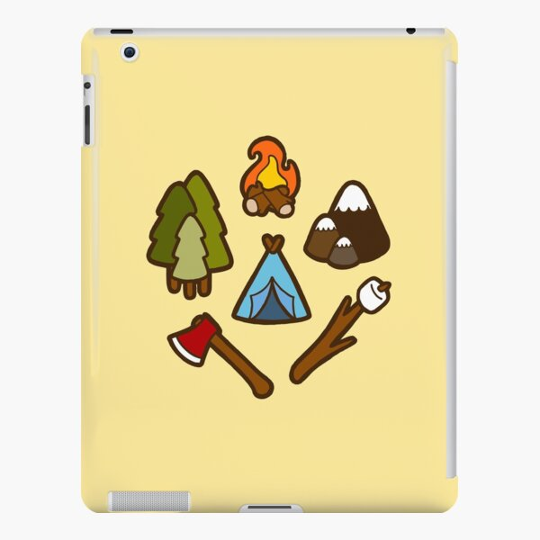Camping is cool iPad Snap Case