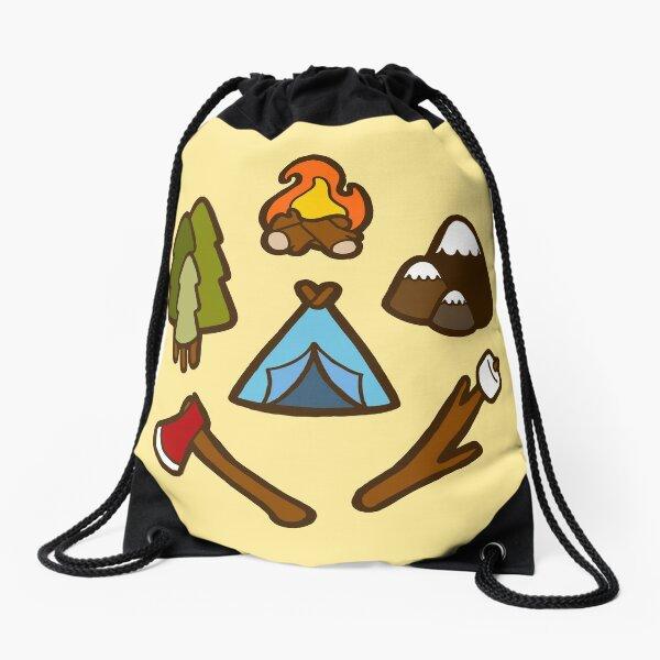 Camping is cool Drawstring Bag