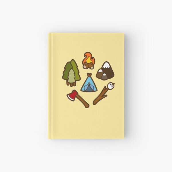Camping is cool Hardcover Journal
