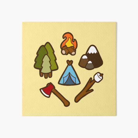 Camping is cool Art Board Print