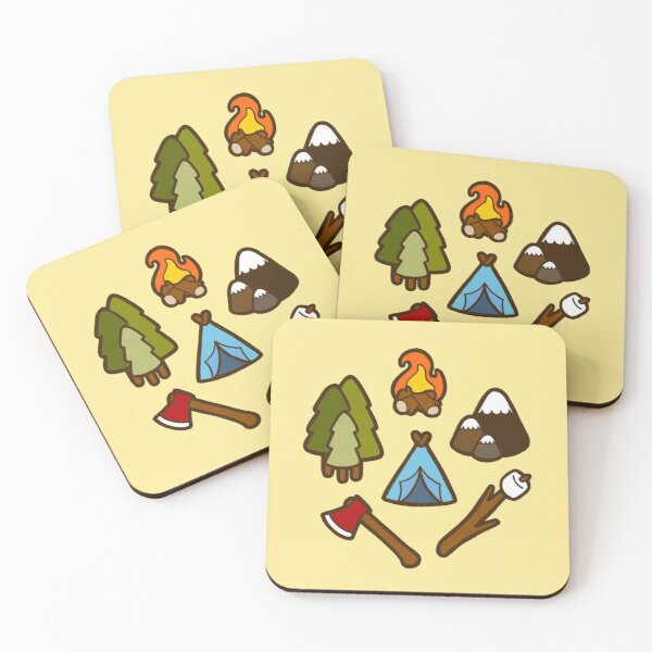 Camping is cool Coasters (Set of 4)
