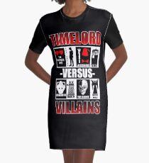 Time versus Villains Graphic T-Shirt Dress