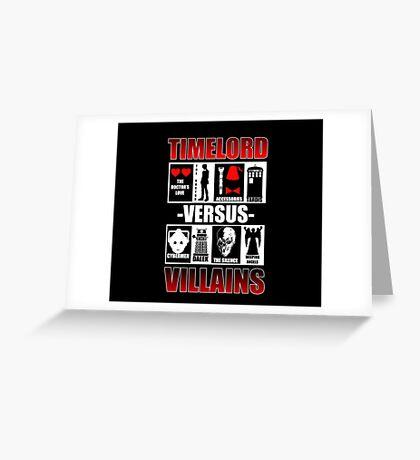 Time versus Villains Greeting Card