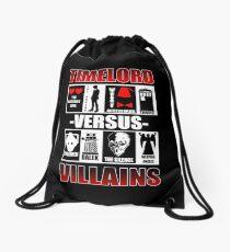 Time versus Villains Drawstring Bag