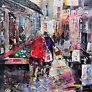 Shoppers Browsing - Town & Cities Art Gallery by Ballet Dance-Artist