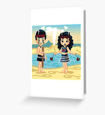 Poi and Haka in Geyserland, New Zealand Greeting Card