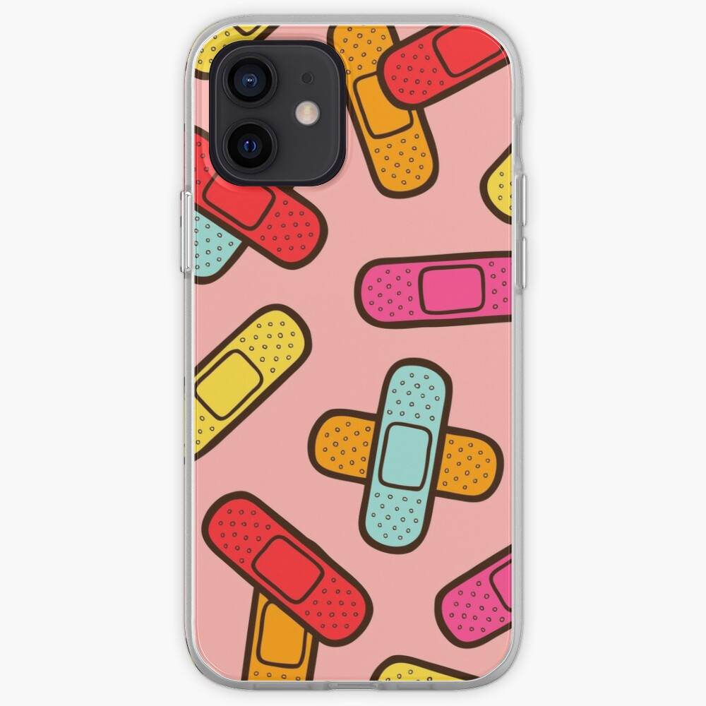 Rainbow Band-Aids Pattern iPhone Case & Cover