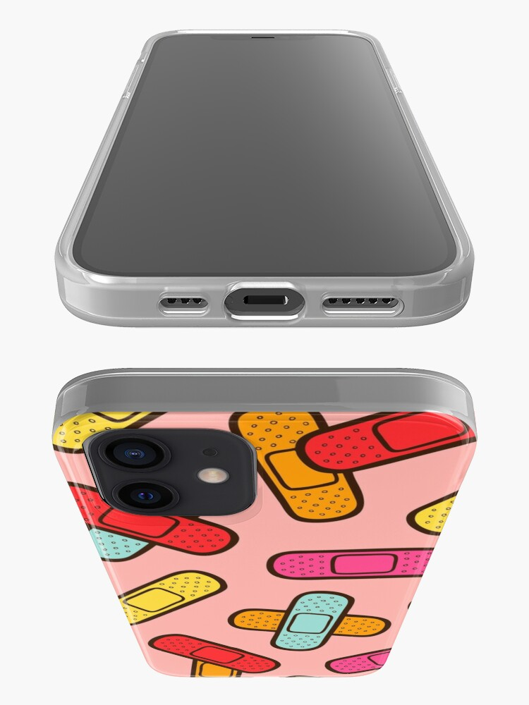 Alternate view of Rainbow Band-Aids Pattern iPhone Case & Cover