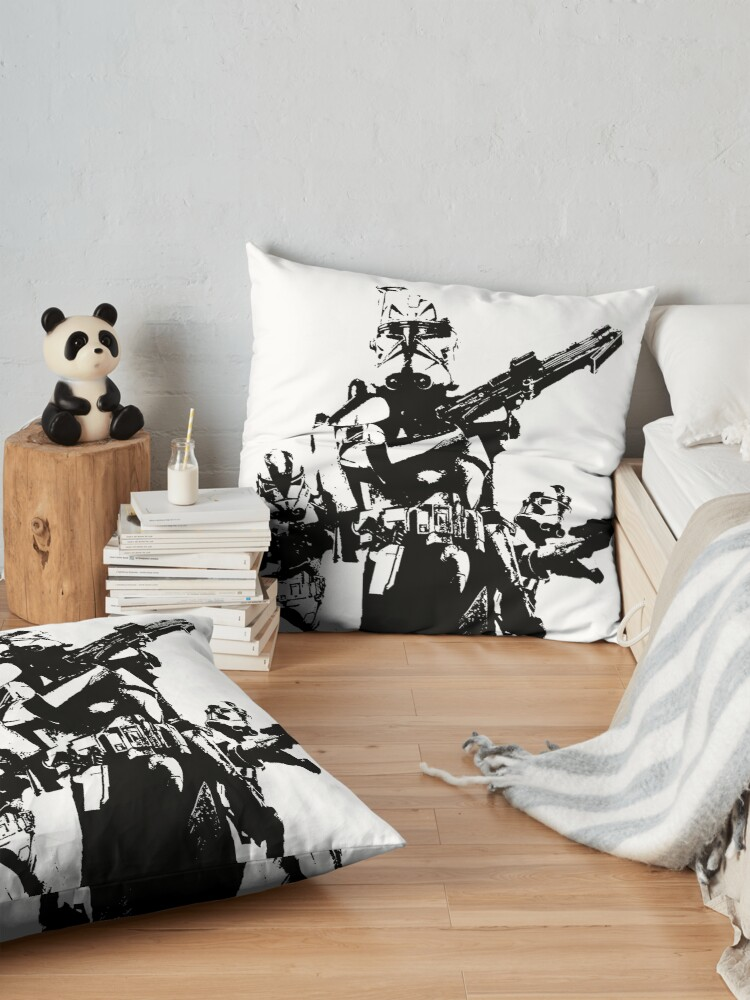 Alternate view of 501st Trooper Silk Screen Floor Pillow