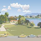 Hamilton Lake, New Zealand 1966 by Terry Moyle by contourcreative