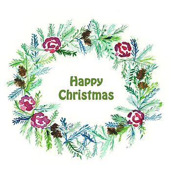 Christmas 2017- Happy Christmas Wreath by MADEBYCATHERINE