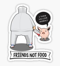 Friends Not Food Sad Fact Sticker