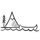 Canoe by the mountain by Lorie Warren