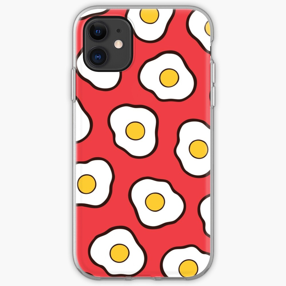 Fried Eggs Pattern iPhone Case & Cover